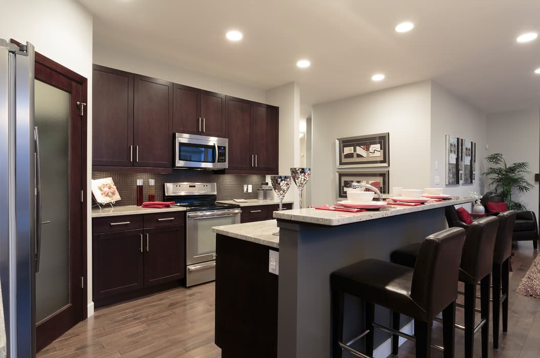The Ridgebury II Kitchen AS Homes New Houses Manitoba